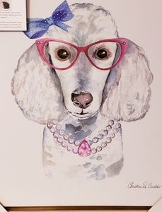 New Poodle Canvas Wall Art.